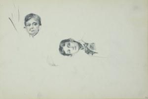 Włodzimierz TETMAJER (1861 – 1923), Szkice głowy chłopca, [ok. 1900]
