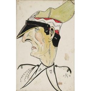 Edward AŁASZEWSKI (1908-1983), Generał Wieniawa Długoszowski - karykatura