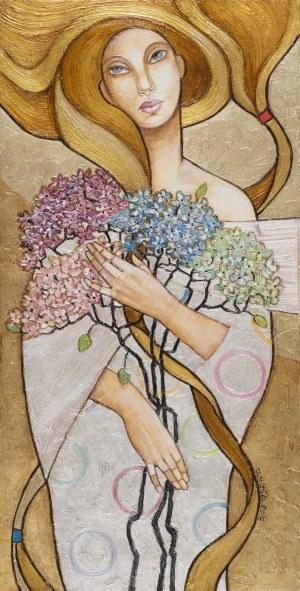 Joanna MISZTAL, Pastelowy dotyk hortensji