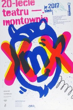 Piotr GARLICKI (ur. 1969), Plakat - 20-lecie teatru montownia
