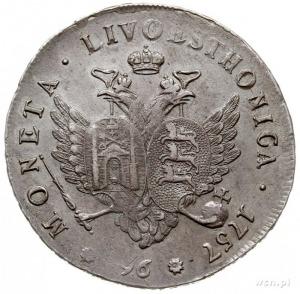 monety dla Liwonii / Livoesthonica, 96 kopiejek 1757, K...