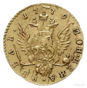 rubel 1779, Petersburg, złoto 1.18 g, Bitkin 115 (R), D...