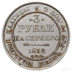 3 ruble 1832 СПБ, Petersburg, platyna 10.32 g, Bitkin 7...