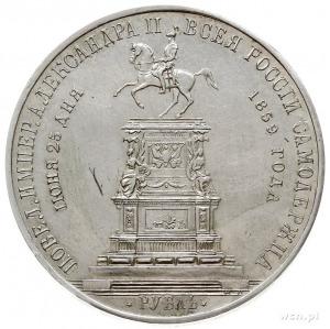 rubel 1859 Petersburg, wybite z okazji odsłonięcia pomn...
