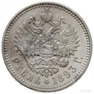 rubel 1893 (А.Г), Petersburg, Bitkin 77, Kazakov 778, b...