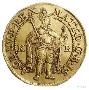 Maciej II 1608-1619, dukat 1618 KB, Krzemnica, złoto 3....