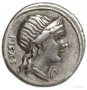 M. Herennius 108-107 pne, denar 108/107 pne, Rzym, Aw: ...