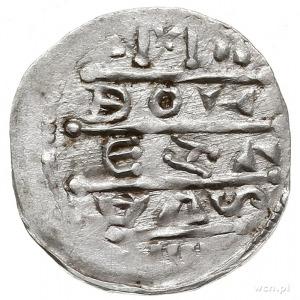 denar, Aw: Cesarz siedzący na tronie na wprost, Rw: Nap...