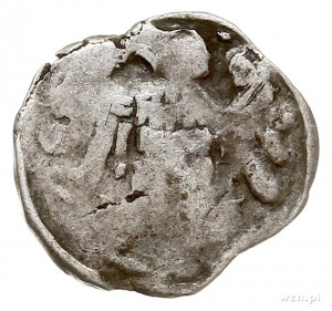 denar typu Vinkenaugen, Aw: Orzeł heraldyczny z głową w...