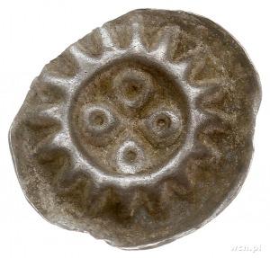 Pyrzyce, brakteat XIII-XIV w., Czterolistny kwiat (roze...
