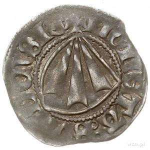 Strzałów, wit XV w. (po 1403?), Aw: Grot strzały w tarc...
