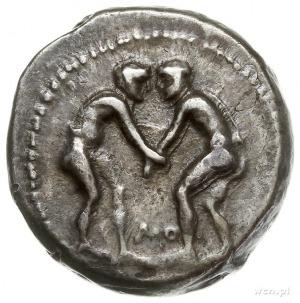 Pamfilia, Aspendos, starer po 300 r. pne, Aw: Dwaj zapa...