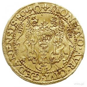 dukat 1580, Gdańsk, rzadszy wariant z napisem STEPHANVS...
