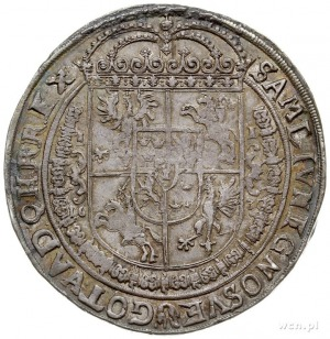 talar 1630, Bydgoszcz, Aw: Wąska półpostać króla bez ko...