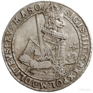 talar 1632, Bydgoszcz, Aw: Półpostać króla w prawo i na...