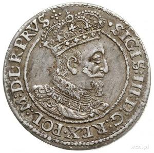 ort 1618, Gdańsk, odmiana z listkiem klonowym na rewers...