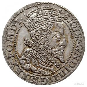 szóstak 1596, Malbork, duża głowa, patyna, rzadki i pię...
