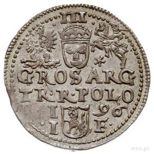 trojak 1596, Olkusz, gwiazdka pod Pogonią, Iger O.96.1....