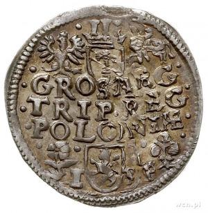 trojak 1596, Wschowa, Iger W.96.2.c, moneta dwukrotnie ...