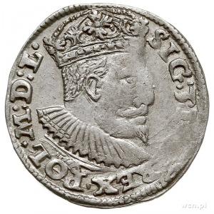 trojak 1595, Lublin,  odmiana ze znakiem Topór, Iger L....