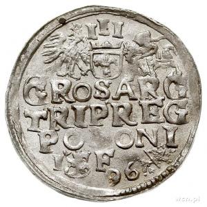 trojak 1596, Lublin, Iger L.96.6.a (R1), piękny