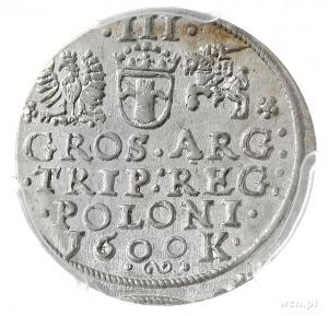 trojak 1600, Kraków, popiersie króla w lewo, Iger K.00....