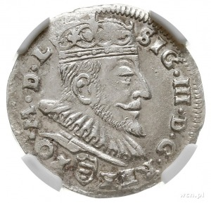 trojak 1589, Wilno, pod popiersiem herb Korczak (podska...