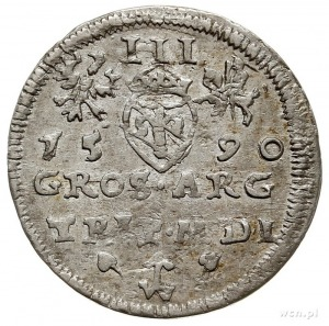 trojak 1590, Wilno, herb podskarbiego Demetriusza Chale...