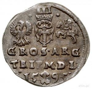 trojak 1595, Wilno, Iger V.95.1.a, Ivanauskas 5SV40-19,...