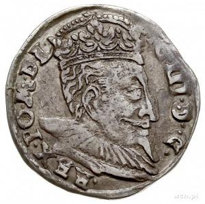 trojak 1598, Wilno, na awersie rzadko spotykane popiers...