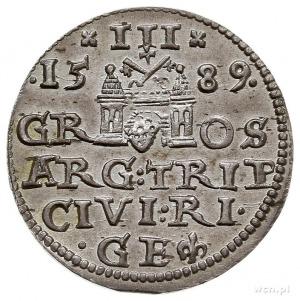 trojak 1589, Ryga, Iger R.89.3.c (R), Gerbaszewski 23, ...