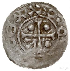 Bolesław II 967-999, denar typu bawarskiego, Aw: Krzyż ...