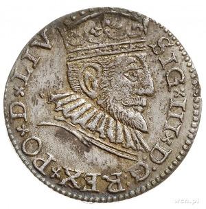 trojak 1593, Ryga, odmiana napisowa LIV, Iger R.93.1.c,...