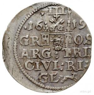 trojak 1619, Ryga, odmiana z dużą głową króla, Iger R.1...