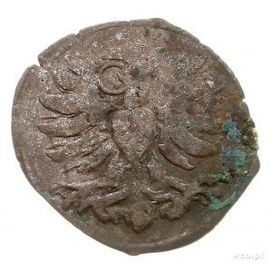 denar 1599, Wschowa, Aw: Orzeł, Rw: Herb Wschowy i data...
