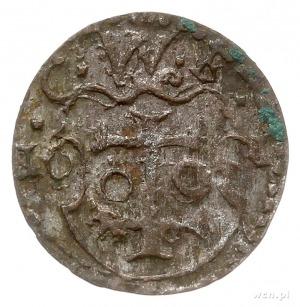 denar 1601, Wschowa, Aw: Orzeł, Rw: Herb Wschowy i data...