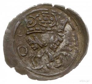 denar 1604, Poznań, Aw: Orzeł, Rw: Herb Poznania i data...
