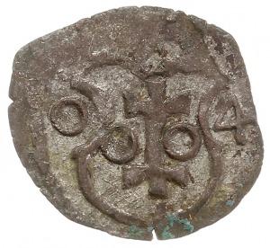 denar 1604, Wschowa, Aw: Orzeł, Rw: Herb Wschowy i data...