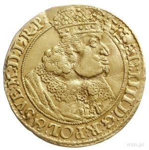 dukat 1647, Gdansk, Aw: Popiersie króla w prawo i napis...