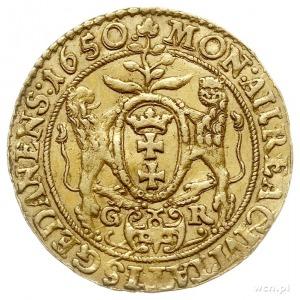 dukat 1650, Gdańsk, Aw: Popiersie króla w prawo i napis...