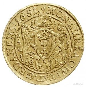 dukat 1651, Gdańsk, Aw: Popiersie króla w prawo i napis...