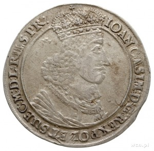 talar 1649, Gdańsk, Aw: Popiersie z dużą głową króla w ...