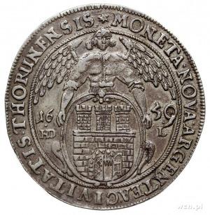 talar 1659, Toruń, Aw: Popiersie króla w prawo i napis ...