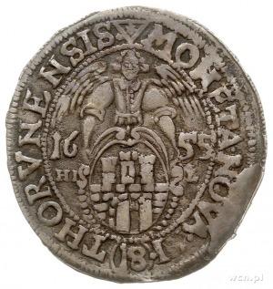 ort 1655, Toruń, odmiana -na rewersie znak menniczy tró...