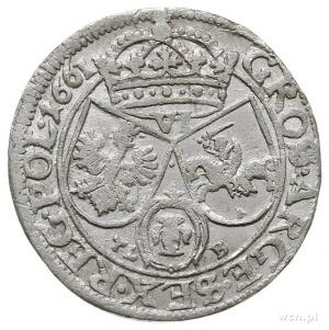 szóstak 1661, Kraków, na rewersie litery TL - B, piękny