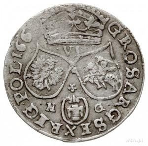 szóstak 1661, Poznań, odmiana bez obwódek wewnętrznych,...