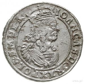 szóstak 1663, Kraków, litery A - T na rewersie, piękny