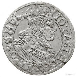 szóstak 1666, Kraków, na rewersie litery A - T, piękny