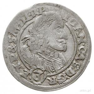 3 krajcary 1658, Opole, Aw: Popiersie króla i napis wok...