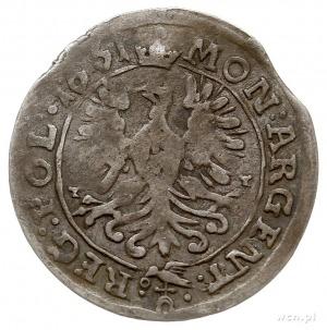 3 krajcary 1661, Opole, Aw: Popiersie króla i napis wok...